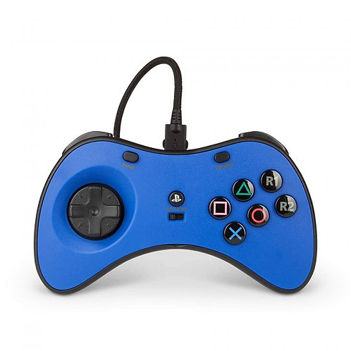 PS4 Fusion Fightpad - Blue/White/Black