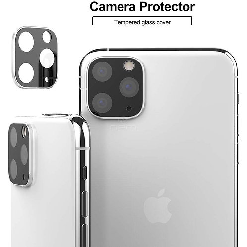 iPhone 11 Pro/Pro Max Full Camera Lens Protector (Silver)