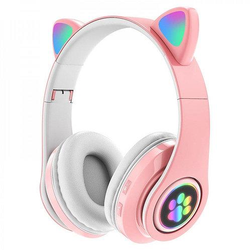 Cat Eared LED Bluetooth Headset