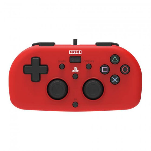 PS4 - Controller - Wired Mini Gamepad - Red (Hori)
