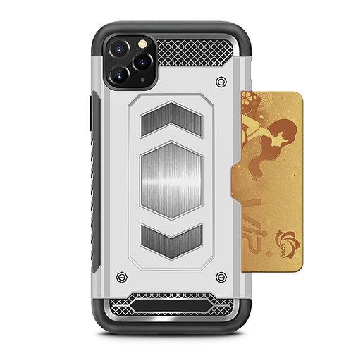 Apple iPhone 11 Pro Max Hybrid Armor Metal Card Holder Shockproof Case