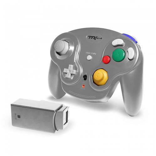 Gamecube - Controller - Wireless - Wavedash 2.4GHZ - Silver (TTX Tech)