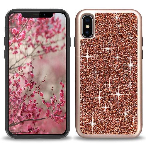 Apple iPhone Xs / 10 / Ten Hybrid Rock Crystal Diamond Case