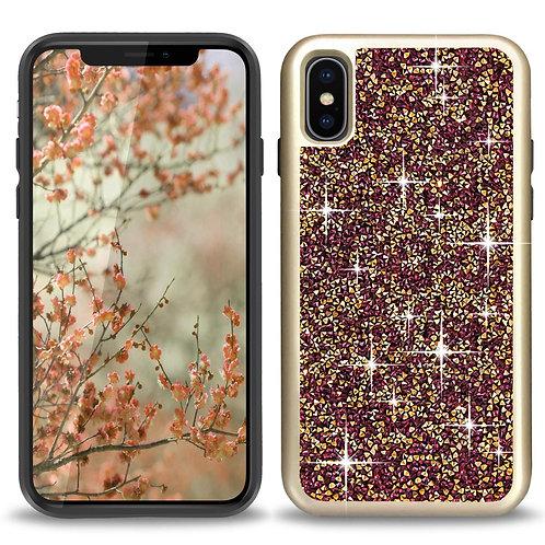 Apple iPhone Xs/ 10 / Ten Hybrid Rock Crystal Diamond Case