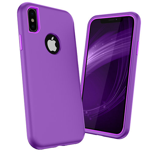 Apple iPhone Xs Heavy Duty (3 in 1) Full Body Protection Shockproof Case Cover