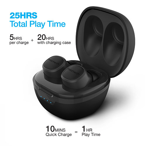 Naztech Freedom+ True Wireless Earbuds with Wireless Charging Pad