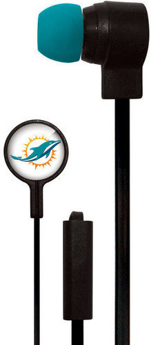 MIZCO  Dolphins Big Logo Earbuds Mic w/ Remote