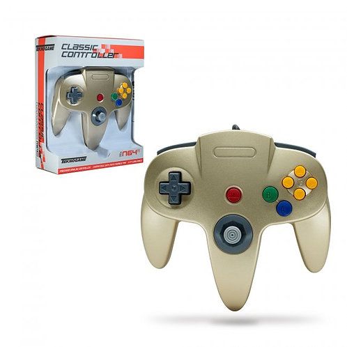Wired Controller for N64 - Gold