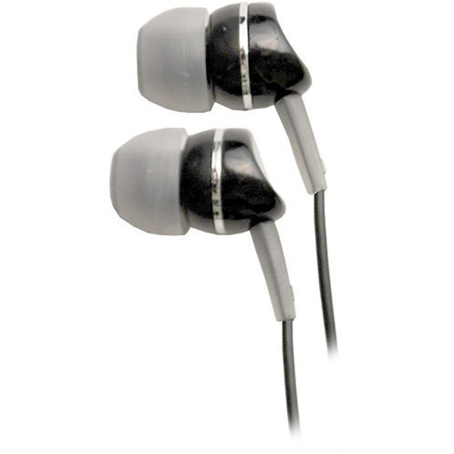 Wicked Black MicroMetallics Stereo Earbuds