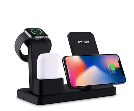 Q12 3 in 1 Wireless Charger and Charging Station for Apple/Samsung Devices