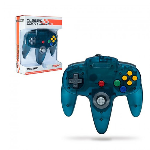 Wired Controller for N64 - Clear Teal