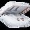 Thumbnail: Happy Plugs - Air 1 Plus In Ear Headphones - White Marble