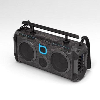 Bumpboxx Bluetooth Boombox Flare6 Black | Retro Boombox with Bluetooth Speaker