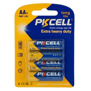 PKCELL Heavy Duty AA Batteries (4PK)