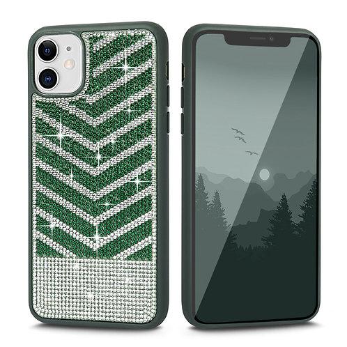 Apple iPhone 11 Luxury Diamond Glitter PC + Soft TPU Shockproof Bumper Case