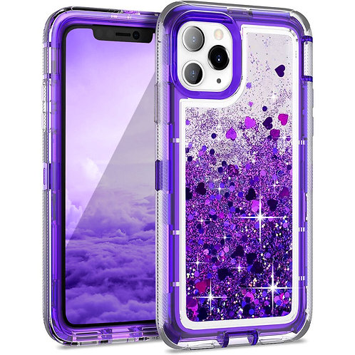 Apple iPhone 11 Pro Max Liquid Glitter Quicksand Heavy Duty Hybrid Case