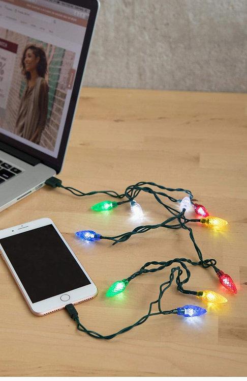 LED Christmas Lights Lightning Charging Cable