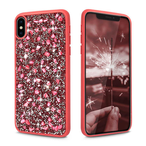 Apple iPhone XS Luxury Ziva Couture Premium Diamond Case PC + TPU Case