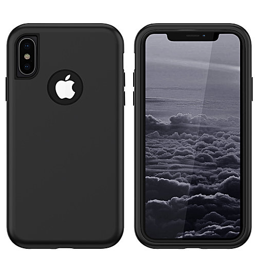 Apple iPhone Xs Max Heavy Duty (3 in 1) Full Body Protection Shockproof Case Cov