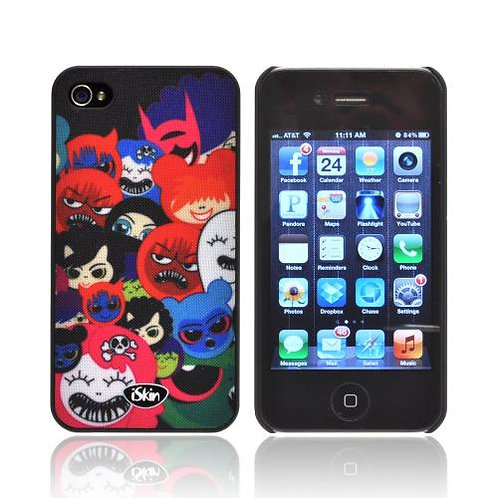 iSkin Aura Happy Friends Edition iPhone 4/4S Ultra Slim Case w/ Screen Protector