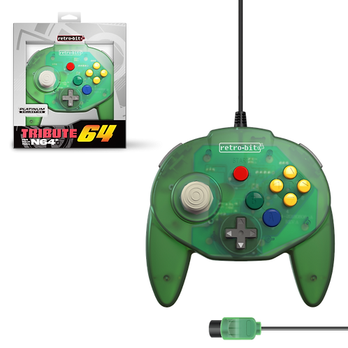 Tribute64 Controller - N64® Port - Forest Green (Retro)