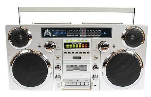 GPO Brooklyn Bluetooth Boombox 80W CD Cassette FM USB Recording