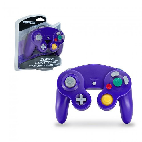 Game Cube Controller - Wired - Purple (For Gamecube/Wii U/Wii)