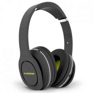 PureGear PureBoom Handsfree Bluetooth Over-the-Ear Headphones - Black