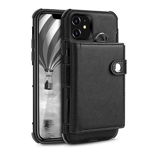 Apple iPhone 11 Tri-Fold Leather Book Style Wallet Case Soft TPU ShockProof Cove