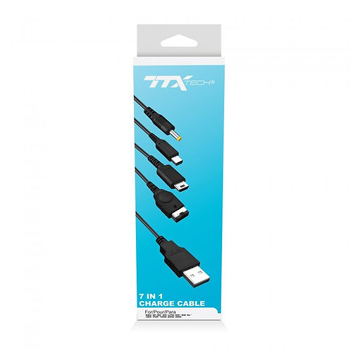 7-in-1 Charge Cable for GBA SP/DS/DSL/ DSI/3DS/PSP