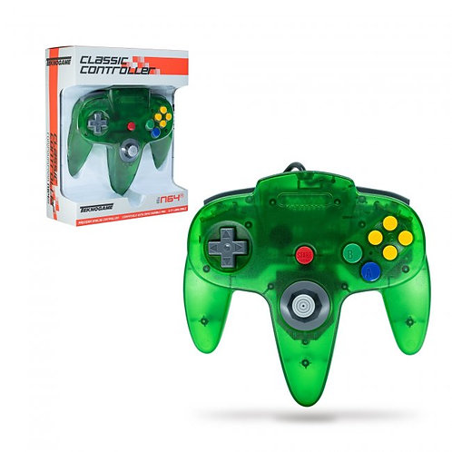 Wired Controller for N64 - Clear Green
