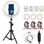 10 inch Selfie Ring Light with 76 inch Tripod Stand & Cell Phone Holder