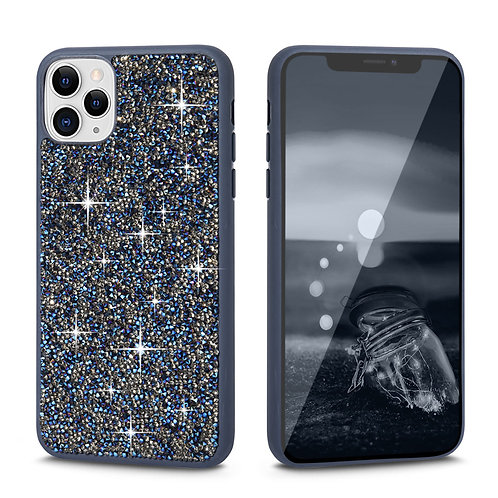 Apple iPhone 11 Pro Max Rock Crystal Diamond PC + TPU Shockproof Bumper Case