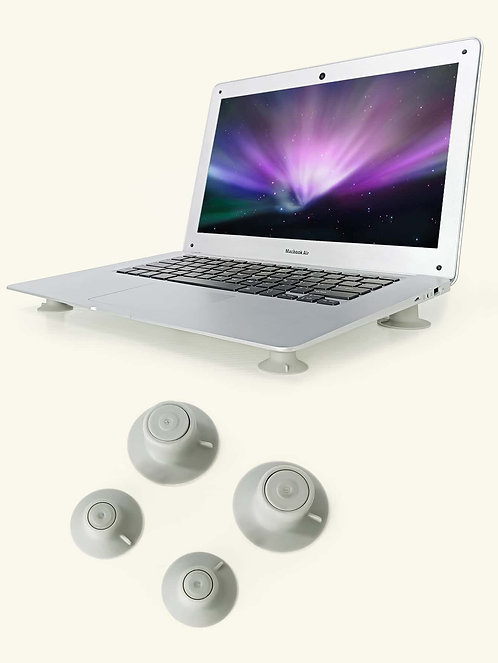 Laptop Cooling Feet Leg Stands (2pcs Large + 2pcs Small)