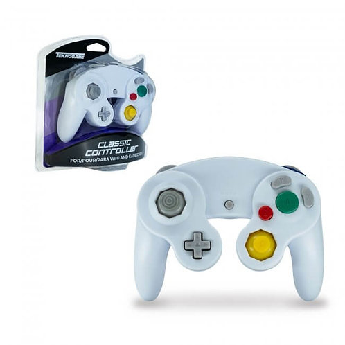 Game Cube Controller - Wired - White (For Gamecube/Wii U/Wii)