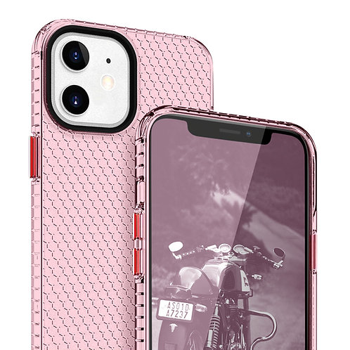 Apple iPhone 12 Mini (5.4 inch) Slim Hybrid Dotted Pattern Clear Case