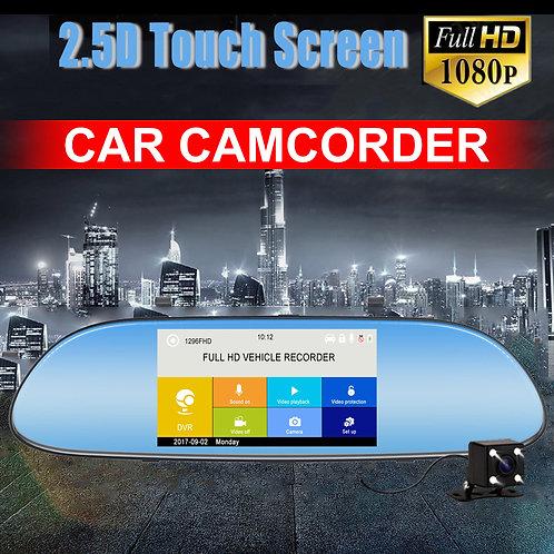 "Rear-View Mirror Vehicle 5"" Dash Cam Video Camcorder"