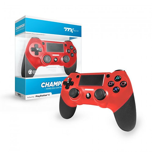 CHAMPION Wireless Controller for PS4 (Red)
