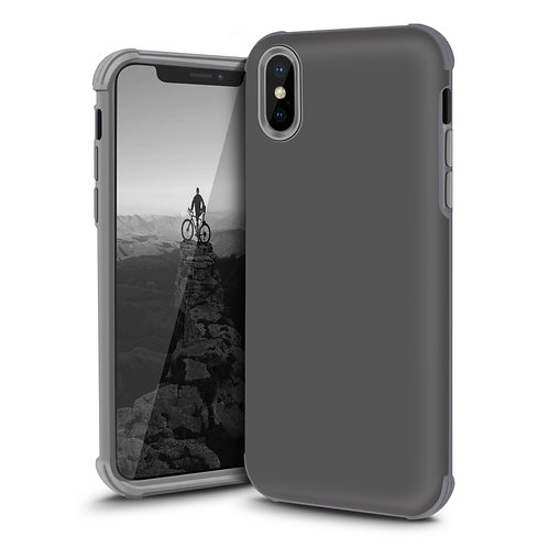 Apple iPhone Xs Hard Soft Dual Layer Shockproof Case Cover