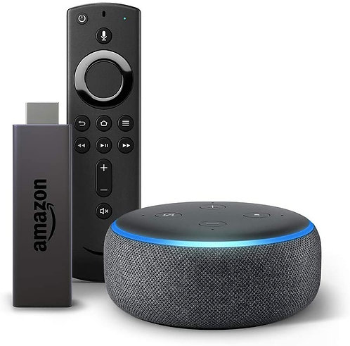 Fire TV Stick bundle with Echo Dot (3rd Gen - Charcoal)