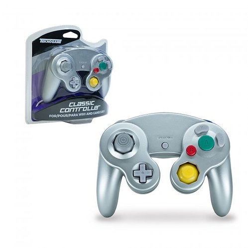 Game Cube Controller - Wired - Silver (For Gamecube/Wii U/Wii)