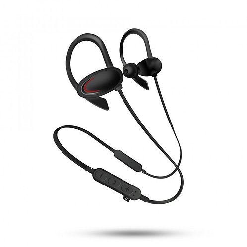 Hook Style Bluetooth Earphone Headset with MicroSD Music Slot MSF1