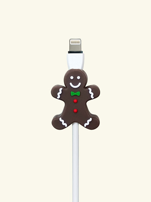 Christmas Gingerbread Man Design Data Cable Protector