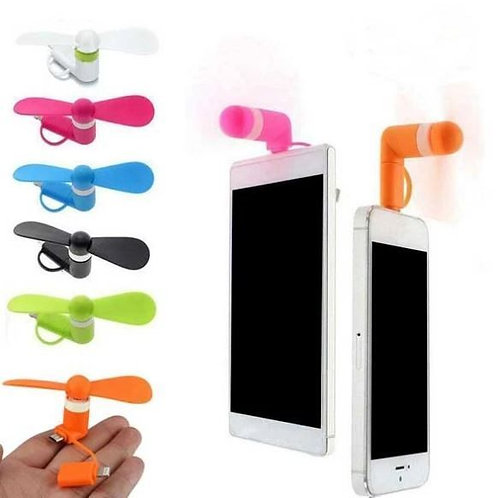 Portable 3 in 1 Mobile Mini Fan (Apple, Micro, Type-C)