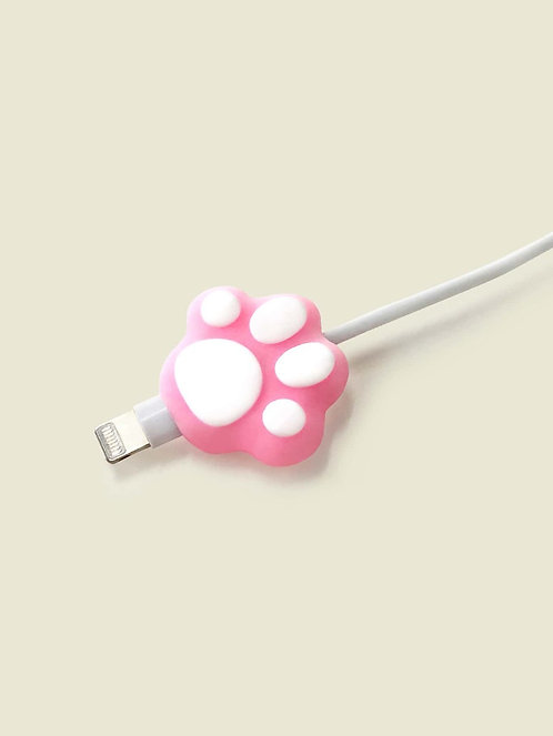Pink Paw Print Design  Cable Protector