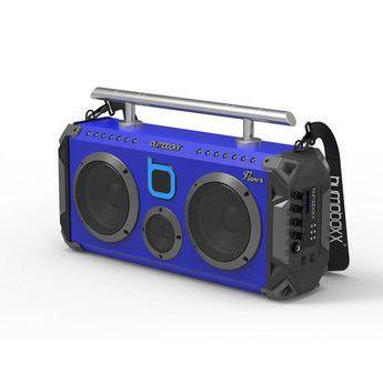 Bumpboxx Bluetooth Boombox Flare6 Black | Retro Boombox with Bluetooth Speaker