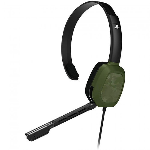 PS5/PS4 Afterglow LVL1 Green Camo Wired Headset