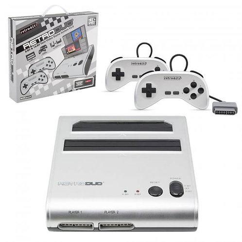 RetroDuo SNES & NES Dual 2in1 System Silver-Black