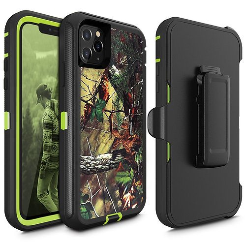 Apple iPhone 12 / iPhone 12 Pro (6.1 inch) Heavy Duty TPU PC Holster Belt Clip C