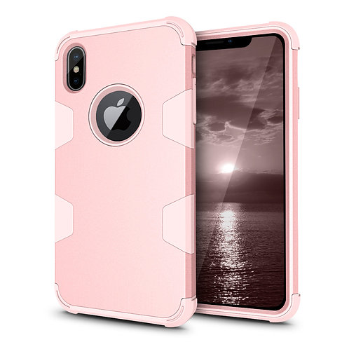 Apple iPhone XS Max Shockproof Hard Soft PC+TPU Full Body Protective Case Cover